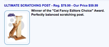 Ultimate Cat Scratching Post Canada