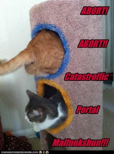 ABORT! ABORT!! Catastroffic Portal Malfunkshun!!!
